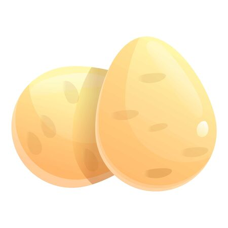 Ostrich eggs icon. Cartoon of ostrich eggs vector icon for web design isolated on white background