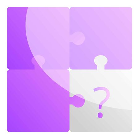 Missing puzzle icon. Cartoon of missing puzzle vector icon for web design isolated on white background