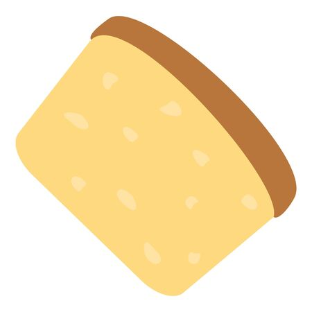 Cheese icon. Flat illustration of cheese vector icon for web design