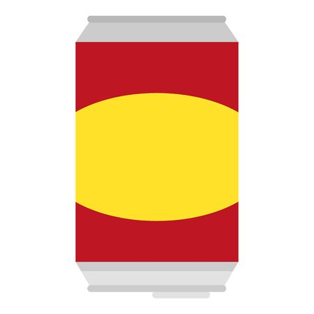 Soda tin can icon. Flat illustration of soda tin can vector icon for web design