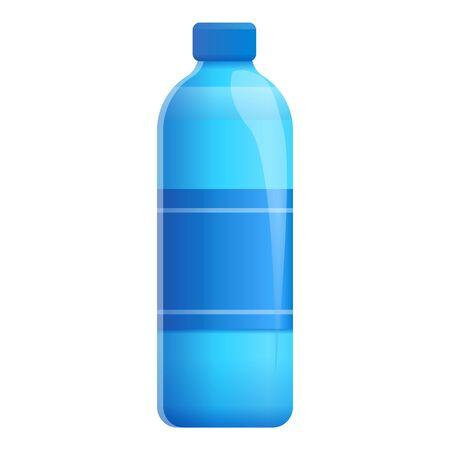 Eco aqua bottle icon. Cartoon of eco aqua bottle vector icon for web design isolated on white background