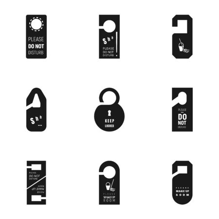 Hanger tag icon set. Simple set of 9 hanger tag vector icons for web design isolated on white background