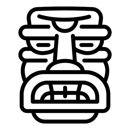 Totem idol icon. Outline totem idol vector icon for web design isolated on white background
