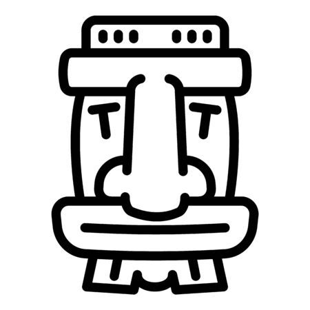 Tiki wood idol icon. Outline tiki wood idol vector icon for web design isolated on white background