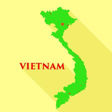 Vietnam landmark icon. Flat illustration of Vietnam landmark vector icon for web design