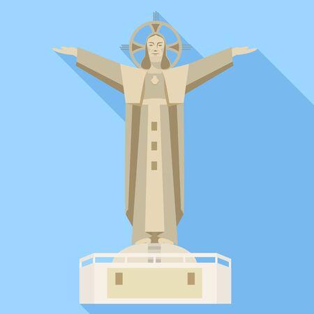 Vietnam statue icon. Flat illustration of Vietnam statue vector icon for web design