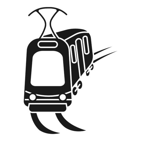 City tram car icon. Simple illustration of city tram car vector icon for web design isolated on white background Ilustrace