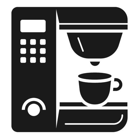 Professional coffee machine icon. Simple illustration of professional coffee machine vector icon for web design isolated on white background