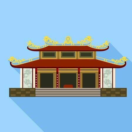 Vietnam temple icon. Flat illustration of Vietnam temple vector icon for web design
