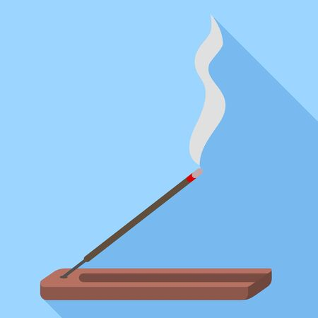 Smoke sticks icon. Flat illustration of smoke sticks vector icon for web design Illustration