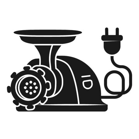 Electric meat grinder icon. Simple illustration of electric meat grinder vector icon for web design isolated on white background Stock Vector - 129085179