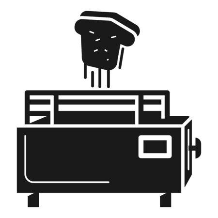 Automatic toaster icon. Simple illustration of automatic toaster vector icon for web design isolated on white background Standard-Bild - 129085202