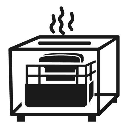 Hot toaster icon. Simple illustration of hot toaster vector icon for web design isolated on white background Standard-Bild - 129085217