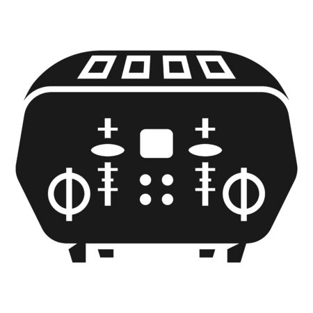 Domestic toaster icon. Simple illustration of domestic toaster vector icon for web design isolated on white background Standard-Bild - 129085205