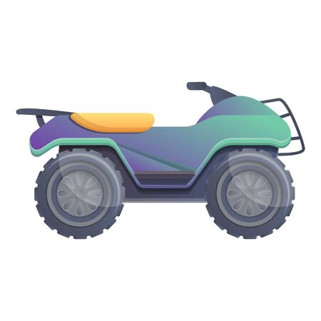 Extreme quad bike icon. Cartoon of extreme quad bike vector icon for web design isolated on white background Ilustração