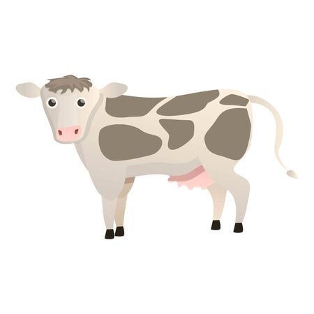 Spotted cow icon. Cartoon of spotted cow vector icon for web design isolated on white background