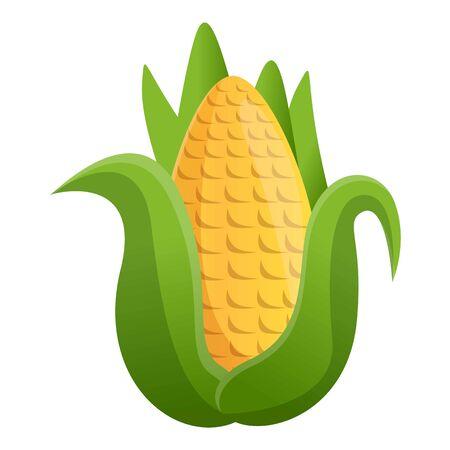 Farm corn icon. Cartoon of farm corn vector icon for web design isolated on white background