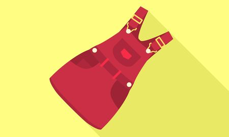 Red workwear icon. Flat illustration of red workwear vector icon for web design