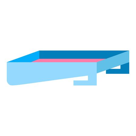 Paint box icon. Flat illustration of paint box vector icon for web design