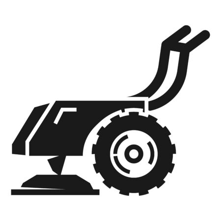 Walk-behind tractor icon. Simple illustration of walk-behind tractor vector icon for web design isolated on white background