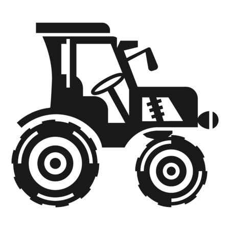 Farm tractor icon. Simple illustration of farm tractor vector icon for web design isolated on white background Stock Illustratie