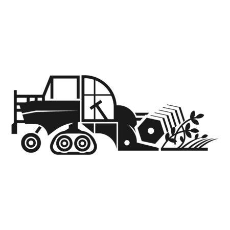 Icône de moissonneuse-batteuse agricole. Simple illustration de l'agriculture combiner l'icône vecteur pour la conception web isolé sur fond blanc