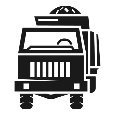 Front farm truck icon. Simple illustration of front farm truck vector icon for web design isolated on white background Stock Illustratie