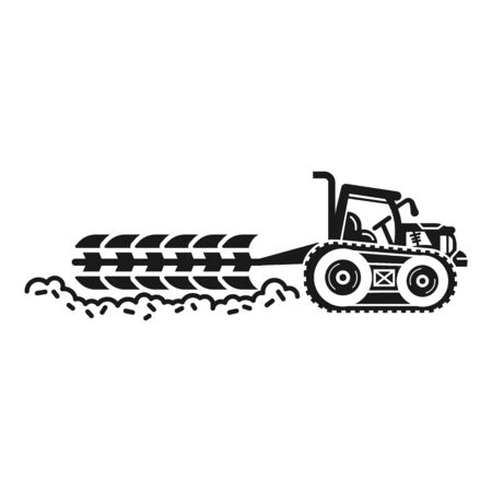 Big field tractor icon. Simple illustration of big field tractor vector icon for web design isolated on white background
