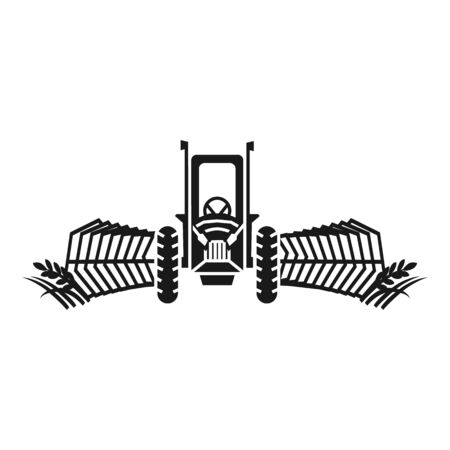 Tractor working harvester icon. Simple illustration of tractor working harvester vector icon for web design isolated on white background Stock Illustratie