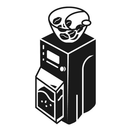 Modern coffee grinder icon. Simple illustration of modern coffee grinder vector icon for web design isolated on white background  イラスト・ベクター素材