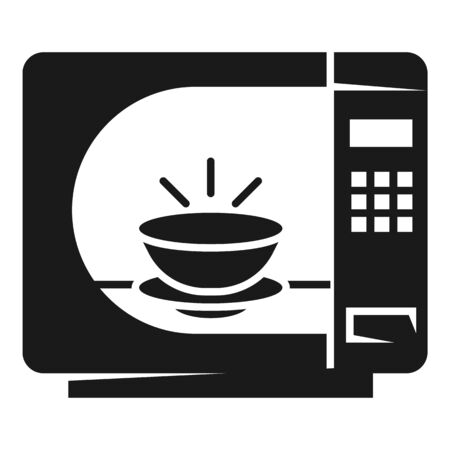 Timer microwave icon. Simple illustration of timer microwave vector icon for web design isolated on white background 向量圖像