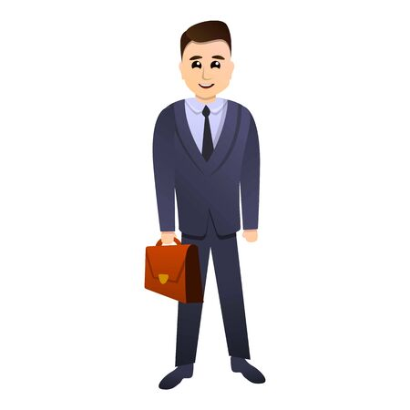 Law man icon. Cartoon of law man vector icon for web design isolated on white background