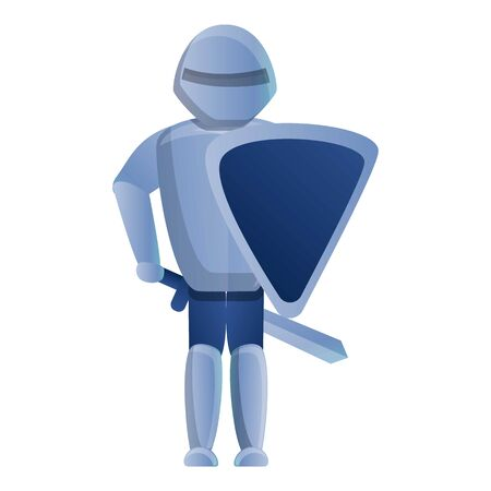 Castle knight icon. Cartoon of castle knight vector icon for web design isolated on white background Ilustrace