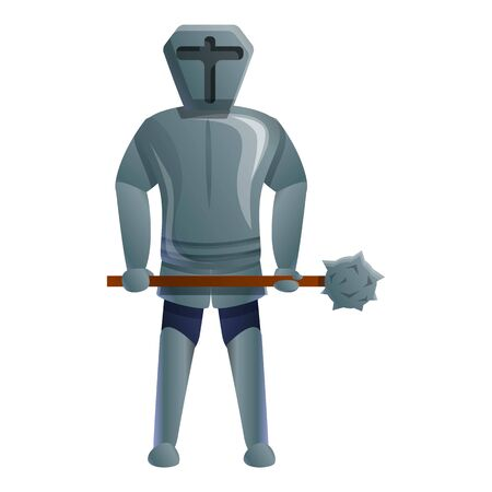 Fight knight icon. Cartoon of fight knight vector icon for web design isolated on white background  イラスト・ベクター素材