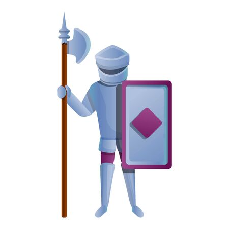 Castle spear knight icon. Cartoon of castle spear knight vector icon for web design isolated on white background