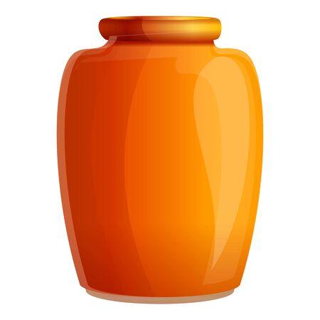 Lemonade jam jar icon. Cartoon of lemonade jam jar vector icon for web design isolated on white background