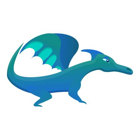 Mythical dragon icon. Cartoon of mythical dragon vector icon for web design isolated on white background  イラスト・ベクター素材