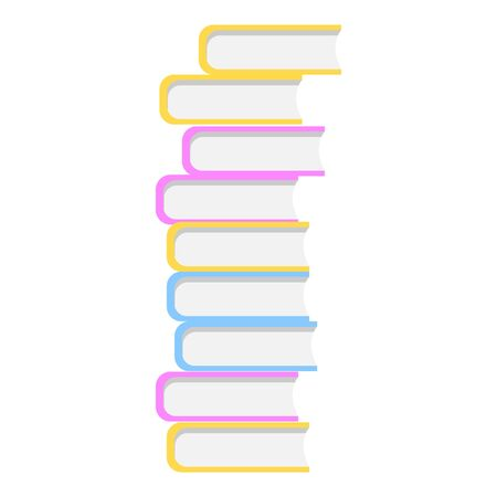 University book stack icon. Cartoon of university book stack vector icon for web design isolated on white background Stock Illustratie