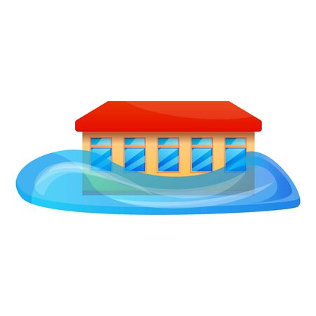 School flood icon. Cartoon of school flood vector icon for web design isolated on white background