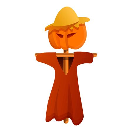 Dummy scarecrow icon. Cartoon of dummy scarecrow vector icon for web design isolated on white background Standard-Bild - 129438181