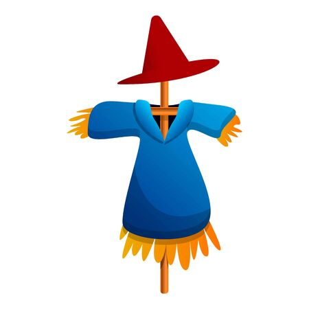 Scarecrow doll icon. Cartoon of scarecrow doll vector icon for web design isolated on white background