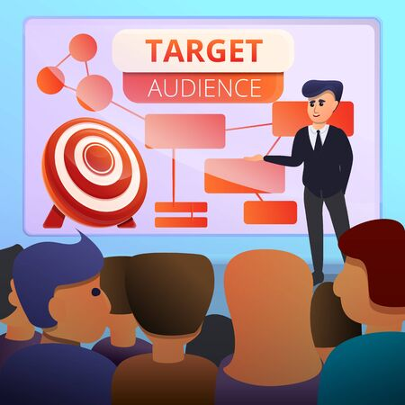 Audience concept banner. Cartoon illustration of audience vector concept banner for web design