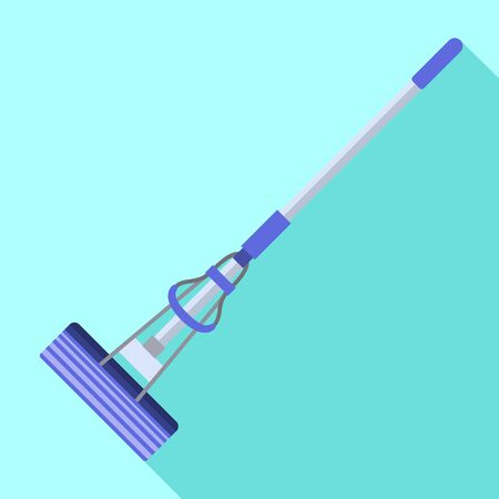 Kitchen mop icon. Flat illustration of kitchen mop vector icon for web design
