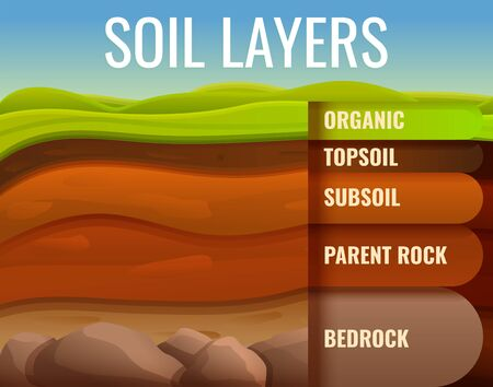 Soil ground land infographic. Cartoon of soil ground land vector infographic for web design