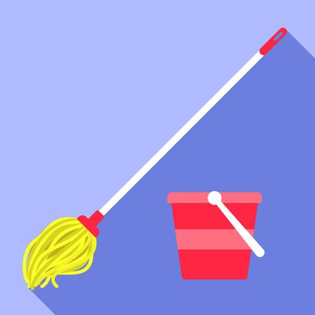 Classic mop icon. Flat illustration of classic mop vector icon for web design Иллюстрация