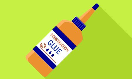 Glue bottle icon. Flat illustration of glue bottle vector icon for web design