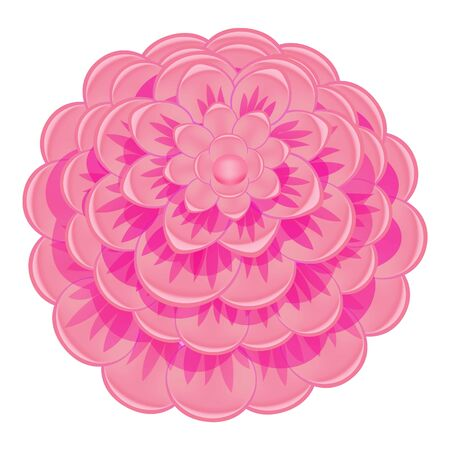 Colorful pink camellia icon. Cartoon of colorful pink camellia vector icon for web design isolated on white background