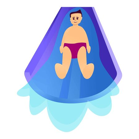 Speed waterpark slide icon. Cartoon of speed waterpark slide vector icon for web design isolated on white background