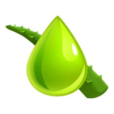 Aloe vera drop icon. Cartoon of aloe vera drop vector icon for web design isolated on white background