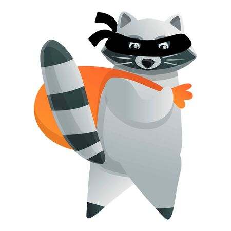 Raccoon burglar icon. Cartoon of raccoon burglar vector icon for web design isolated on white background